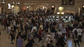 Large Crowd at Grand Central Station