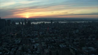 Large View of NYC with Sunset