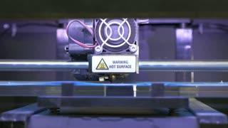 Laser cutting machine at work, dolly shot, close up