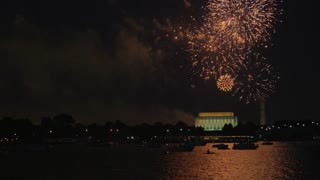 Launching Fireworks Over Monuments