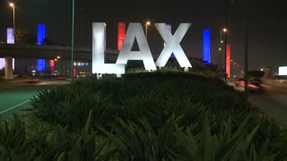 LAX Sign Traffic Pass By
