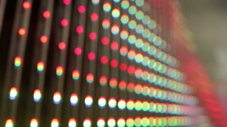 LED Lights On Curtain
