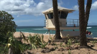 Lifeguard Stand on Hawaii Beach