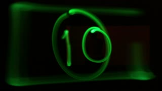 Light Painted Number Countdown