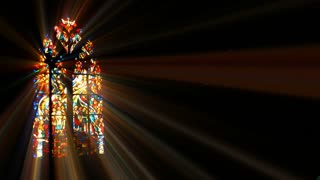 Light Rays Through Stained Glass