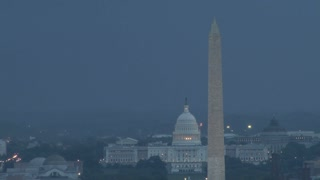 Lightning strike over Capitol
