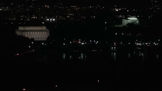 Lincoln and Jefferson Memorials Night Aerial 2