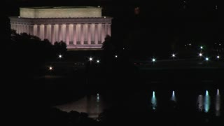 Lincoln Memorial at Night Time