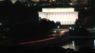 Lincoln Memorial Night Time Lapse