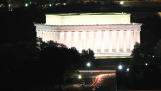 Lincoln Memorial Night Zoom Time Lapse