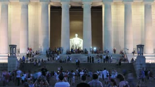 Lincoln Memorial Tourists Timelapse