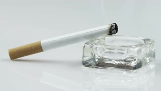 Lit Cigarette in Ashtray 4