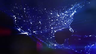 Lit Up North America Graphic