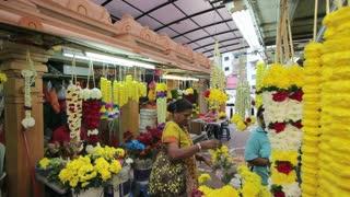 Little India, flower market on Jalan Tun Sambantham, Malaysia, Kuala Lumpur, Malaysia, South East Asia,