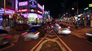 Little India, Jalan Tun Sambantham, Kuala Lumpur, Malaysia, South East Asia, Time lapse
