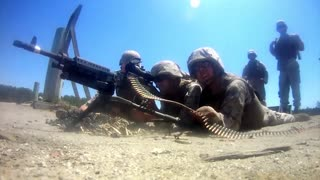 Live fire exercise with the M-240 and .50-caliber machine guns