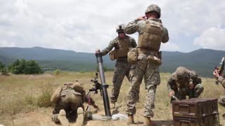 Live firing of a mortar