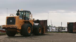 Loader Forklift Moving Container