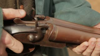 Loading Gun Historical Reenactment