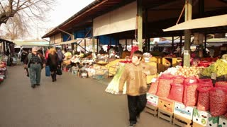 Local Market in Romanian City