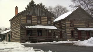 Log Tavern In Winter