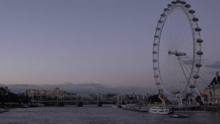 London Eye Along the River Thames