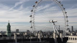 London Eye on Sunny Day