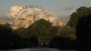 London Eye View from St James Park