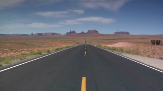 Long Desert Highway, Motorcycles Zoom Towards