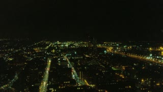 Long Shot of Toronto City Landscape at Night