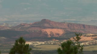 Long Zoom Out  Of Natural Bridges National Monument Utah