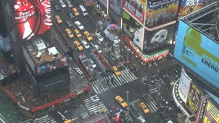 Looking Down at Times Square in New York 3