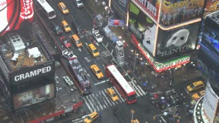 Looking Down at Times Square in New York 4