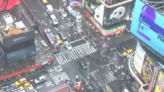 Looking Down at Times Square in New York 8