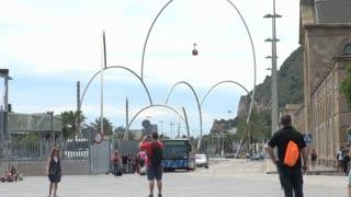 Looped Sculpture in Barcelona Spain