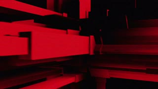 Looping Abstract Red Structure