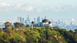 Los Angeles and Griffith Observatory Day To Night Timelapse