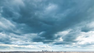 Los Angeles Dark Cloud Storm Overcast Timelapse