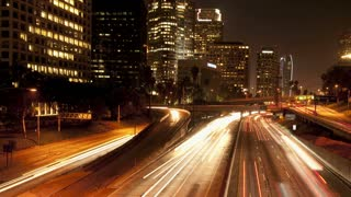 Los Angeles Downtown Freeway Light Trails 2