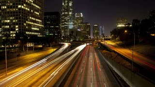 Los Angeles Downtown Freeway Light Trails