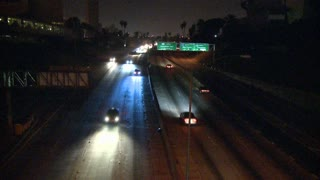 Los Angeles Freeway Night Timelapse