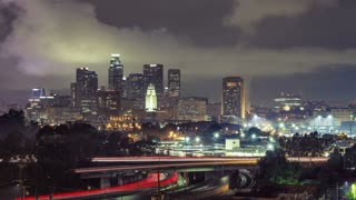 Los Angeles Freeway Traffic Time Lapse