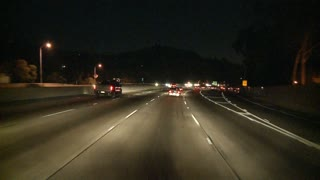 Los Angeles Night Highway Driving