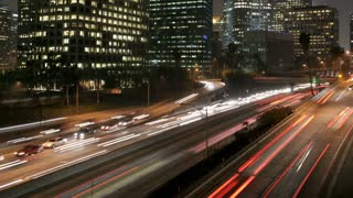 Los Angeles Night Traffic Time Lapse