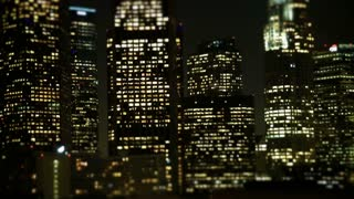 Los Angeles Office Buildings Lights