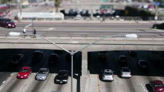 Los Angeles Overpass Tilt Shift Zoom