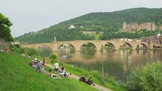 Lounging on Heidelberg Riverbank