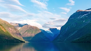 lovatnet lake Beautiful Nature Norway timelapse.