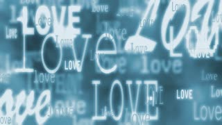 Love Text Blue