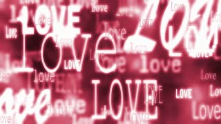 Love Text Red